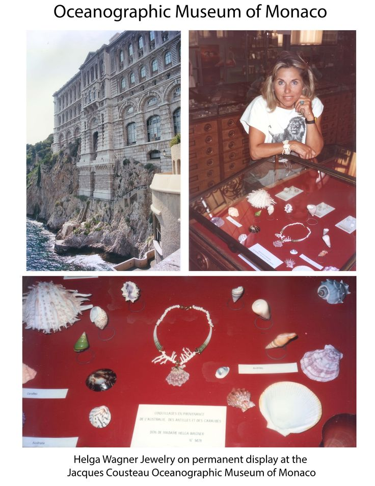 Helga Wagner Jewelry on permanent display at the Jacques Cousteau Oceanographic Museum of Monaco