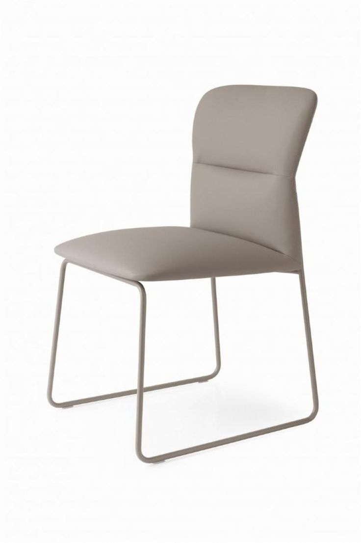 Frida, Moder Faux Leather Upholstered Dining Chair With Metal Legs By  Calligaris, Shown In