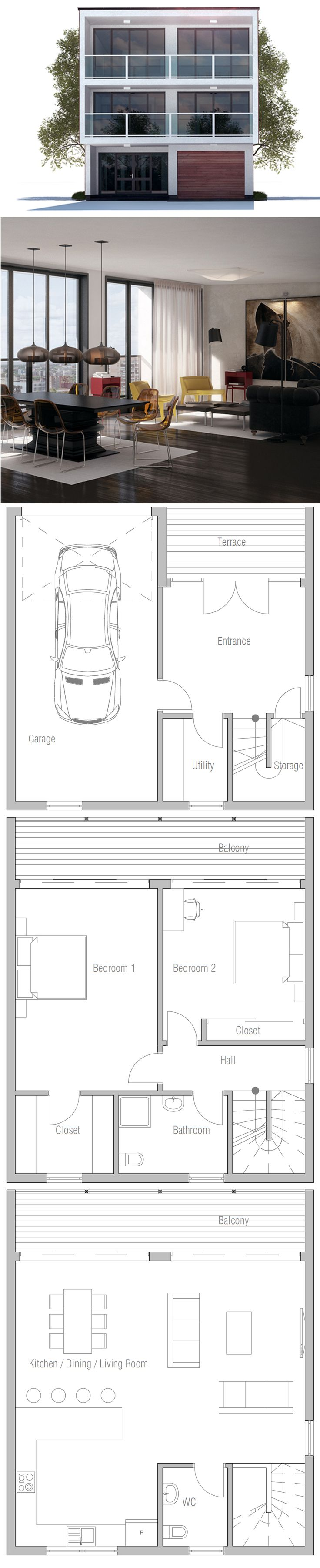 156 best beach house narrow lot plans images on pinterest modern small lot house