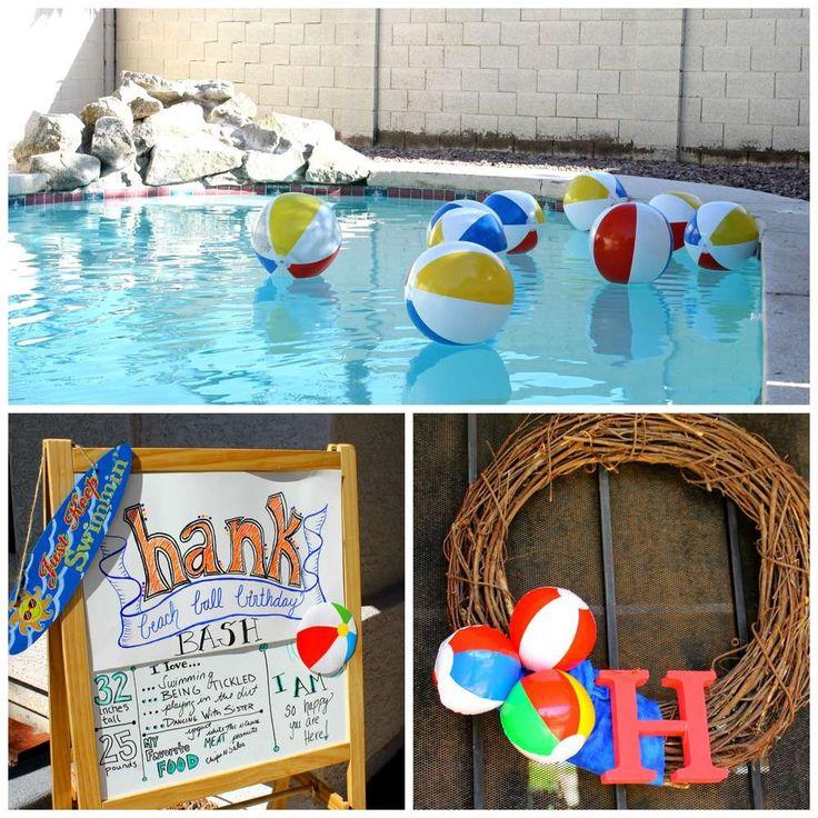 Hank's Beach Ball Birthday Bash | CatchMyParty.com