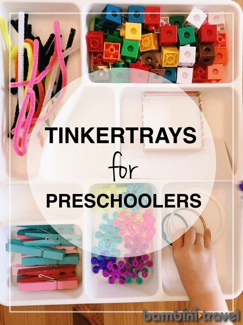 How to Create a Tinkertray | preschool STEM | Bambini Travel
