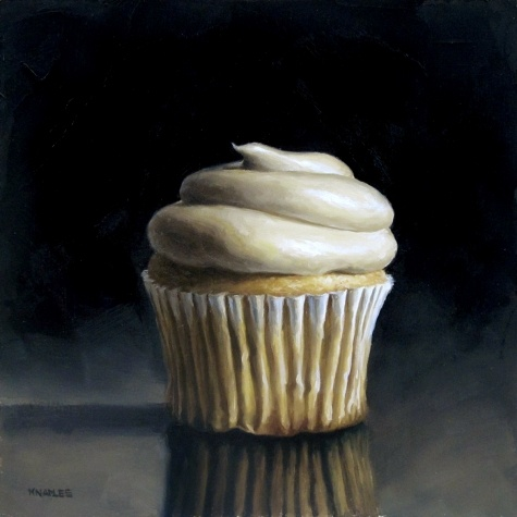 Vanilla Cupcake, painting by artist Michael Naples