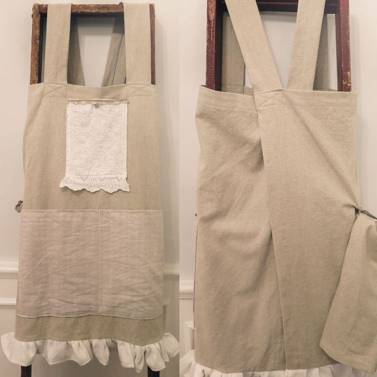 Our gorgeous, Japanese-cut, handmade apron is a delicate blend of linen and cotton. - Monica Potter Home