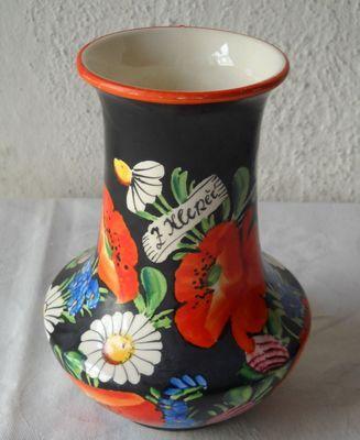 Vázička, chodská keramika, J.Frei, Klenčí