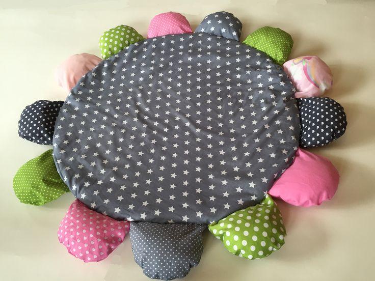Spielmatte+Krabbeldecke+Spieldecke+Blume+von+Bella+Baby+auf+DaWanda.com