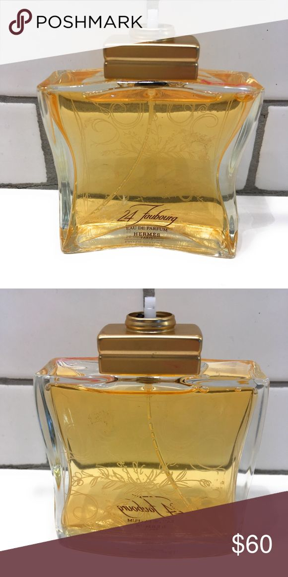 "Hermes 24 Faubourg Eau De Parfum EDP From Nordstrom. No Spray or Lid. Easy Fix, just grab one from another perfume MSRP: $140.00 Brand new no box, sold as-is   Details & Care ""Perfume in the absolute. An explosion of white flowers, enveloping warmth, captivating sensuality."" — Jean-Claude Ellena.  A novel composed by Maurice Roucel in 1995, 24, Faubourg is an invitation to travel, with the sun as its destination. A sparkle of white flowers in the top notes, the radiance of a floral heart…"