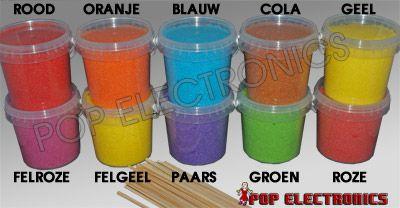 Suikerspinsuiker + Stokjes voor suikerspinmachine in diverse smaken