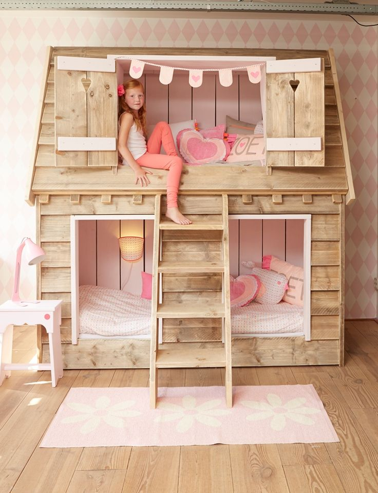 Pakket-aanbieding Droomhuis meisjes? De leukste Kinderbedden voor de kinderkamer bij Saartje Prum.