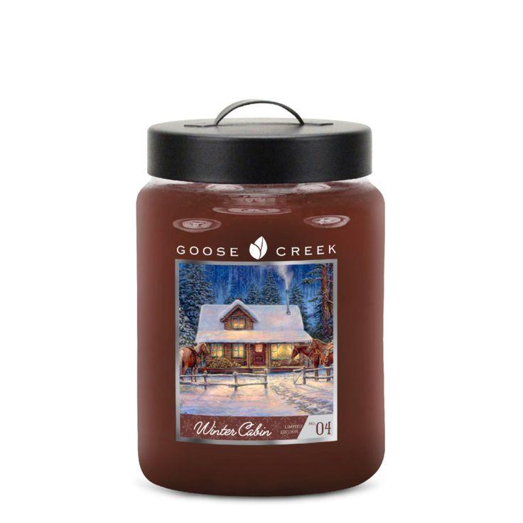 Winter Cabin Goose Creek Candle 20 Oz Jar   Nieuw Holiday Goose Creek Candle   Kadoshop De Duizendpoot