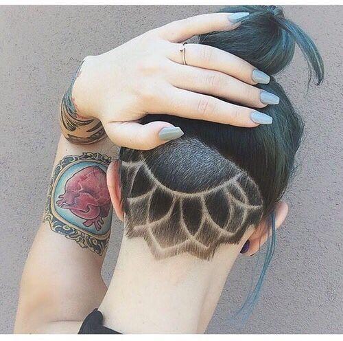 La moda en tu cabello: Cortes de pelo rapado Undercut para mujeres ...