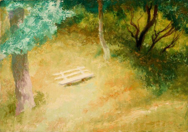 Szőnyi István: Kerti pad. 1943. című festménye, a ház kertjében található padot ábrázolja.