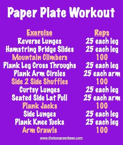 Paper Plate Cardio Workout