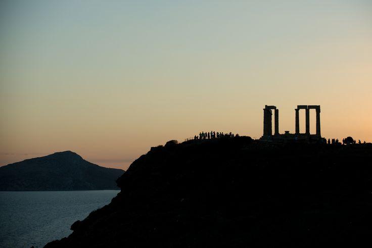 When the sun sets... #CapeSounio #Greece