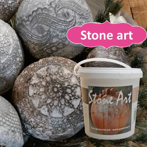 Powertex • Stone art • Decorationpowder to create astonishing effects, for use in combination with Powertex