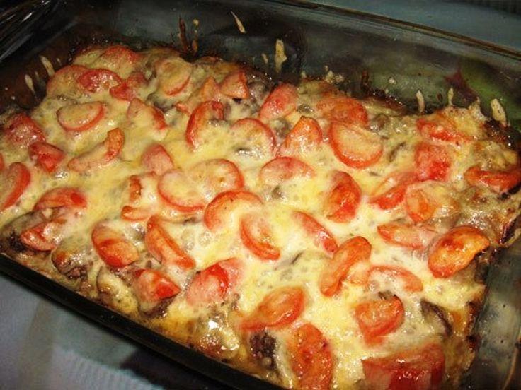 csirkemáj,mozzarella,paradicsom