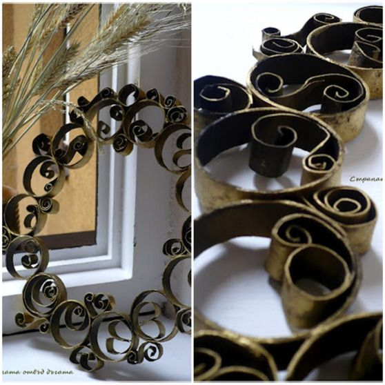 This is the prettiest TP wreath I have seen to date.  (16 other TP ideas at this link)