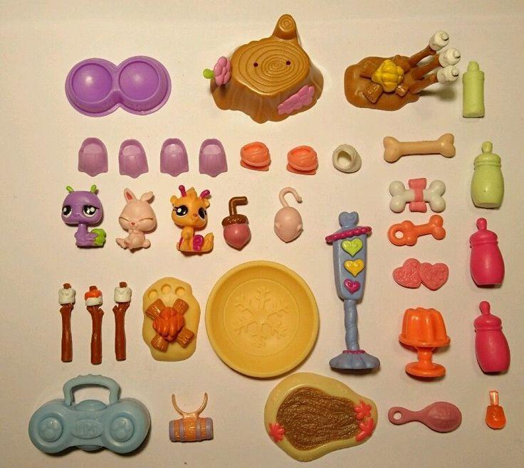 Littlest Pet Shop 3 mini Figurines LOT d'ACCESSOIRES - Palmes Patins à glace Os    eBay