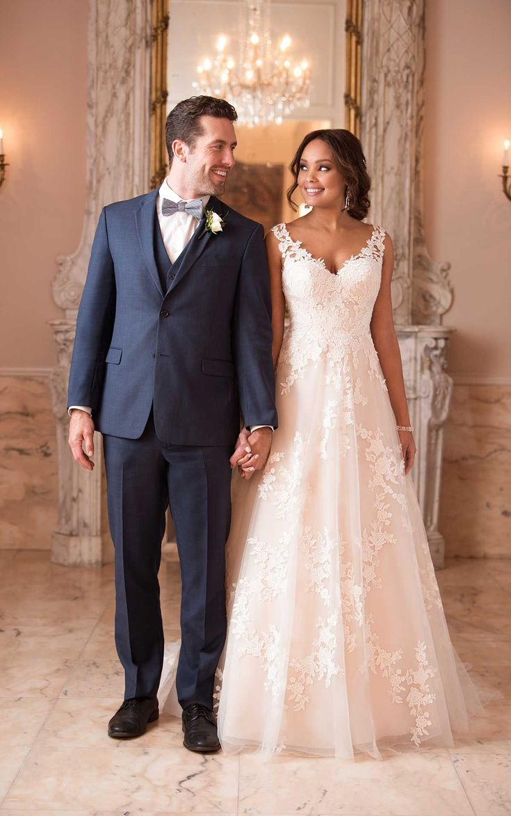 This wedding dress is a girly-girl's dream come true! In a relaxed A-line silhou…