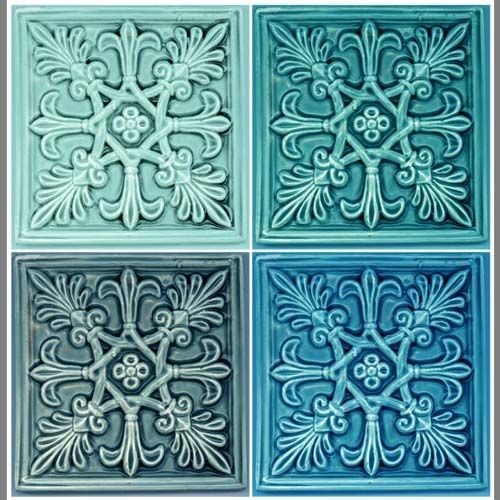 4 Fleur De Lis Tile Vinyl Applique Flooring Custom