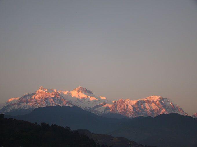 A wonderful view of Annapurna Mountain from Siklis short trek.