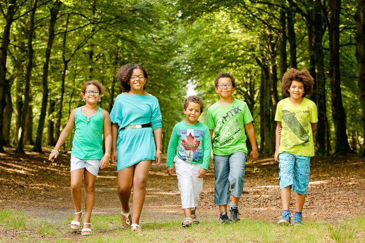Familie Fotoshoot Bergen Bos Noord Holland Nederland