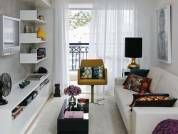 sala-de-apartamento-decorada-9: Small Apartments, Decor, Ideas, Small Places, Small Living Rooms, Interiors Design, Small Spaces, Modern Interiors, Room