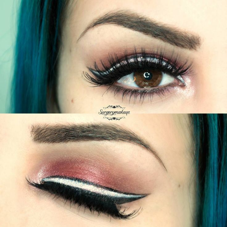 Original red make up with a triple winged liner.
