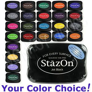 STAZON All Surface Solvent INKPAD Transparent Permanent Ink Stamp Pad Tsukineko