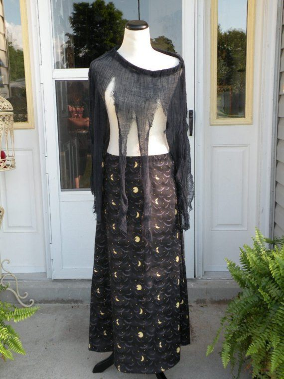 A Witch's Night Skirt w/ Creepy Overskirt or by EvilLilyOriginals, $45.00: Halloween Memories, Halloween Artists, Nostalg Halloween, Night Skirts, Artists Bazaars, Creepy Overskirt, Bazaars Hab, Witch Night, Handcrafted Ware