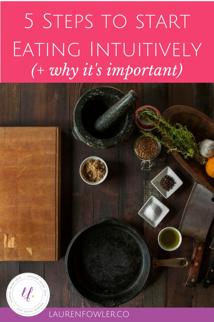 5 Steps to Start Eating Intuitively