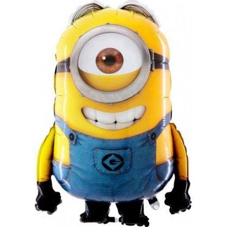 """Witajcie, uśmiech to podstawa:)  Już u nas Foliowy Balon Minion Stuart 30"""" Napełniony Helem.   Utrzymuje się w powietrzu przez kilka dni. Kolorystyka i kształt dokładnie takie jak zaprezentowano na zdjęciu  Świetny drobny upominek dla chłopca, jak i dziewczynki  UWAGA: nie wysyłamy balonów z helem pocztą!  Zapraszamy:)  http://www.niczchin.pl/balony-foliowe-postacie-z-bajek/3256-balon-minion-stuart-30-napelniony-helem.html  #balonminion #balonstuart #balonzhelem #niczchin #kraków"""