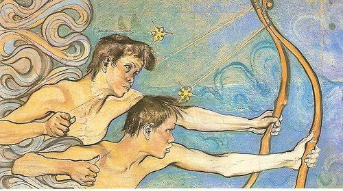 Stanislaw Wyspianski - Lucznicy - The Archers, a detail