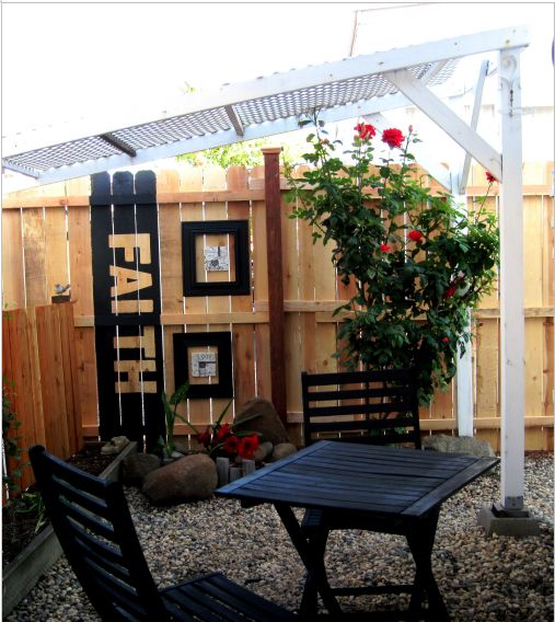 outdoor living space - remodeled single wide mobile home