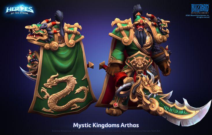 ArtStation - Arthas Mystic Kingdoms Skin, Andrew Kinabrew