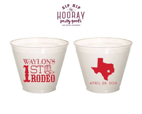 Fun Birthday Party Cup Mood Cups 1st Birthday 1966 Rodeo Party Theme Custom Birthday Cup 1st Rodeo Birthday Rodeo Birthday Party Cups