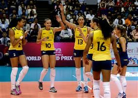 Tournament leaders Brazil maintained their 100 per cent record in the FIVB World Grand Prix Finals