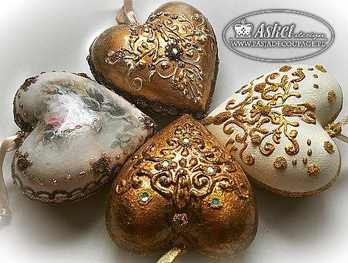 bombki z reliefami - złocenia