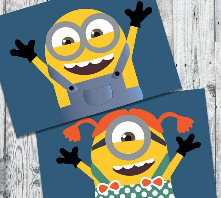 MINIONS Party For Kids - Thank You Flags - Favor Flags - Yellow for Babies by OopsyIdeas on Etsy