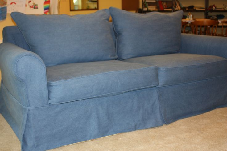 Blue Denim Sofa Slipcover From Twill Slipcover Studio | Slipcovers |  Pinterest | Denim Sofa, Sofa Slipcovers And Cabin