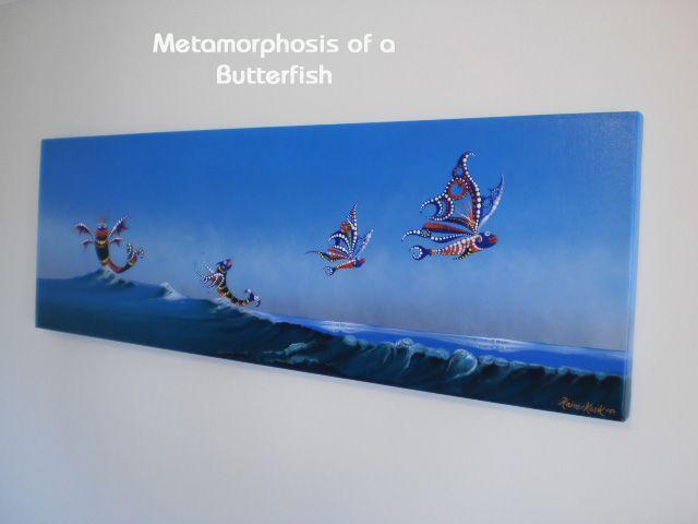 METAMORPHOSIS OF A BUTTERFISH Original artwork by Rainer H.Kozik www.kozikart.com