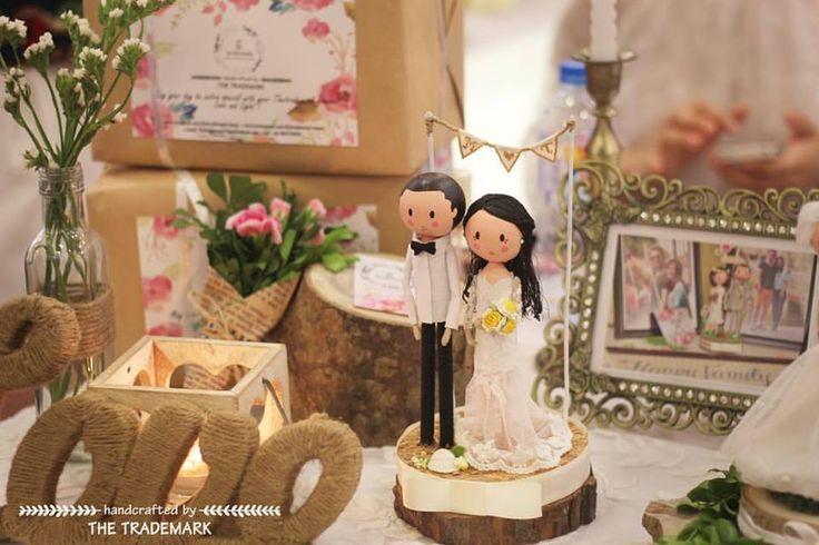 The Trademark's little corner 💐✨💕 M&T Wedding 💕 Sincere congratulation from the bottom of my heart on your engagement 💌 #thetrademark #wooddoll #weddingdecor #engaged #weddingdress #gift #groom #bride #weddinggift #weddingcake #weddingflowers #worldwide #couple #handcrafted #hanoi #vietnam #codau #chure #damcuoi #creative #handmade #caketopper #weddingcaketopper #marriage #customer #woodworking #etsyweddings #etsycraftparty #weddingdoll