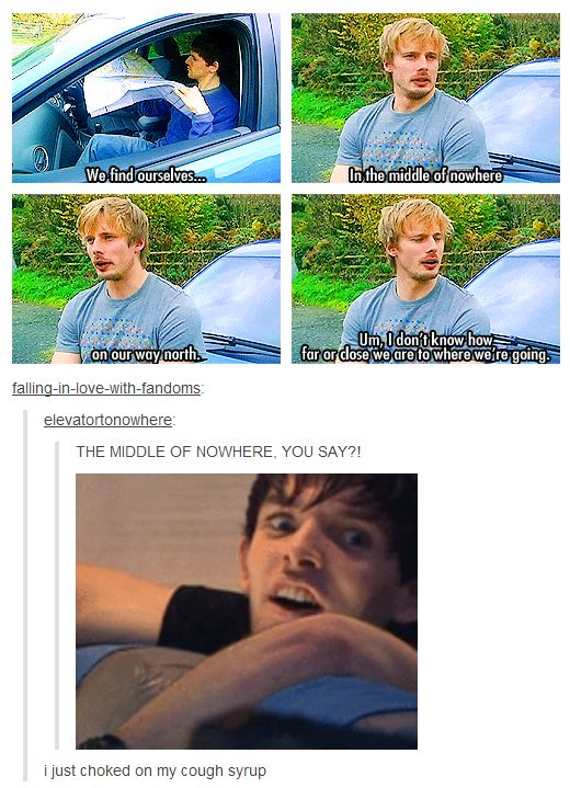 Humor: Doctor Who/Merlin. The only scene from Doctor Who I've ever seen. And it has Colin Morgan .::swoon::.