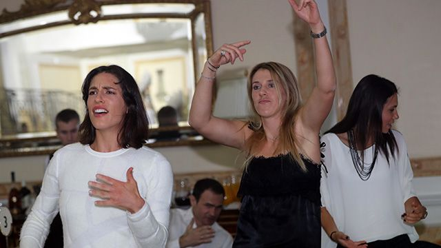 All the players – including Andrea Petkovic – looked really into it!