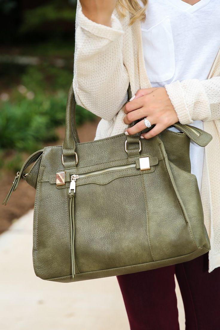 Style Wise Olive Green Handbag at reddressboutique.com