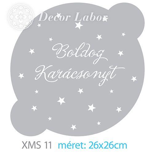 christmas stencil - karácsonyi stencil, tortastencil http://decorlabor.hu/