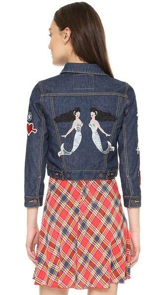 Marc Jacobs Джинсовый пиджак Shrunken со значками