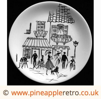Alfred Meakin Parisienne 8 inch plate poodle
