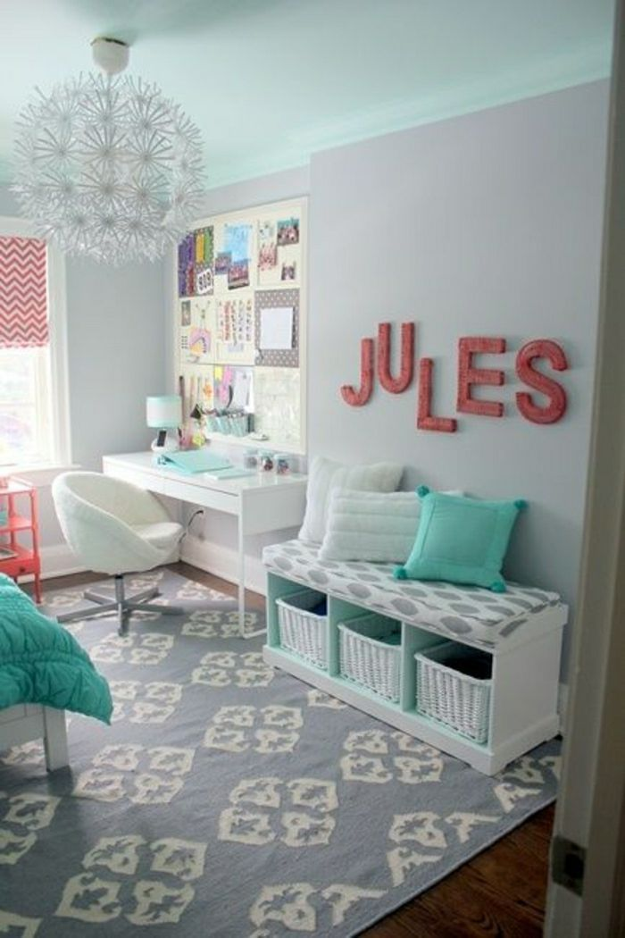 54 Einfache und süße Teen Zimmer Dekor Ideen für Mädchen