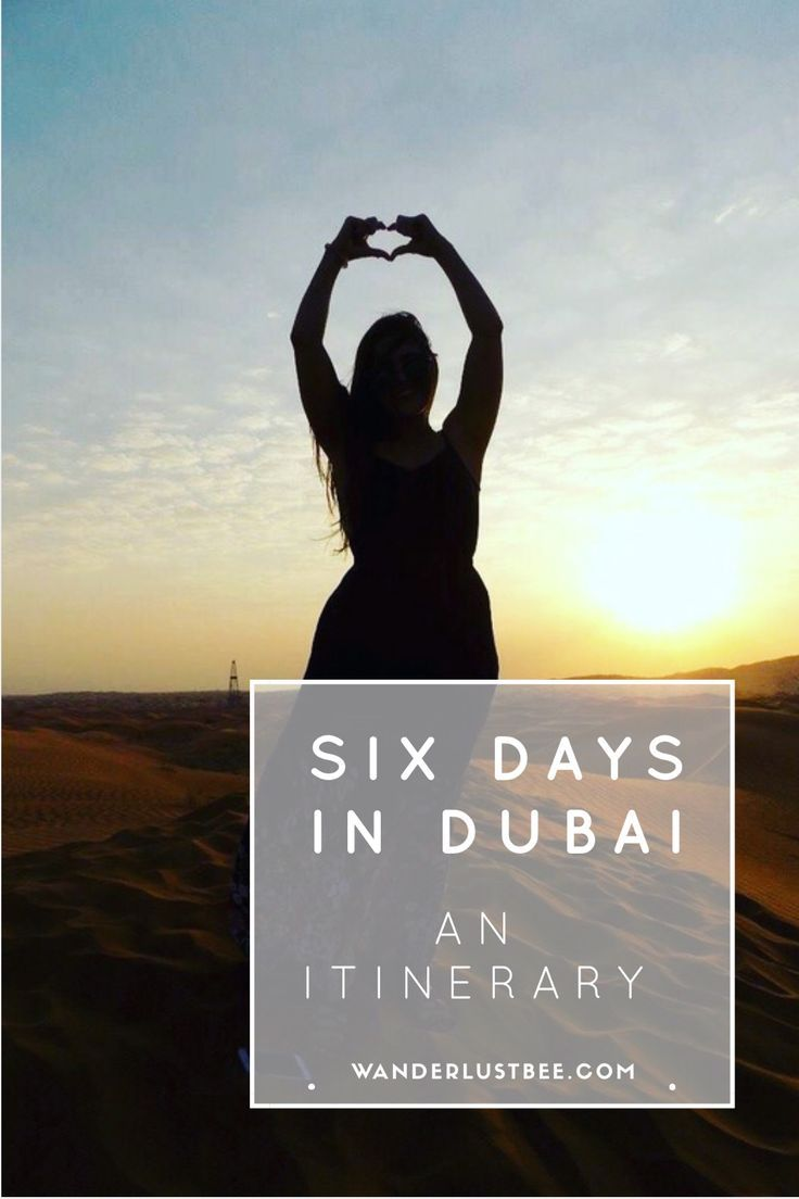 An itinerary of six days in Dubai, UAE Including beach clubbing, brunching, chartering a yacht, visiting Atlantis Aquaventure, seeing Dubai s highlights and and Arabian safari. Click to find out more about our Dubai adventure.