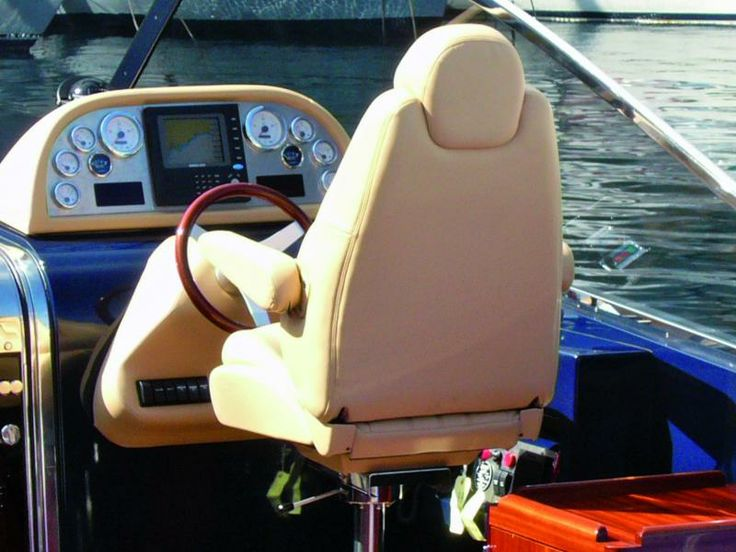 Italy - Pilot seat made with Stamskin leather like material by Serge Ferrari